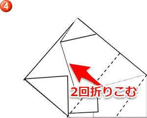 のし 内包み折り方4