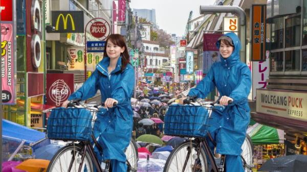 雨合羽で自転車でも蒸れない ...