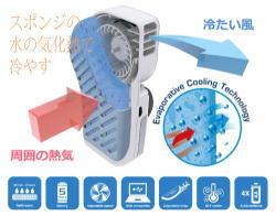 ミスト扇風機 携帯