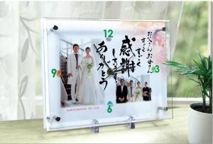 結婚式 両親 プレゼント メッセージ時計