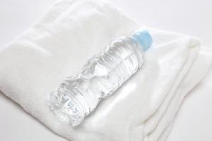 タオルと水