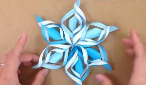 雪の結晶 折り方