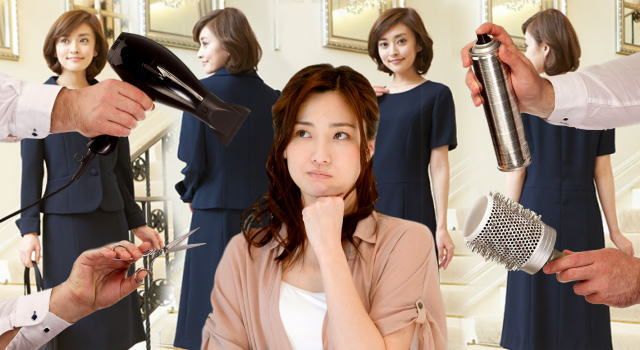 七五三 母親 スーツ 髪型