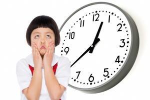 時間(時計)を見られるよう