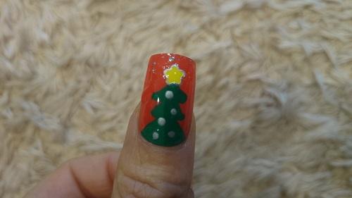 クリスマスツリー ネイルチップ