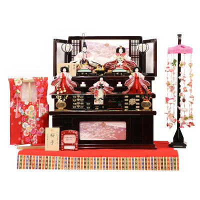 雛人形 収納飾り 三段飾り