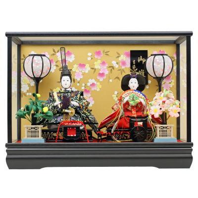 雛人形 収納飾り 親王飾り ガラスケース