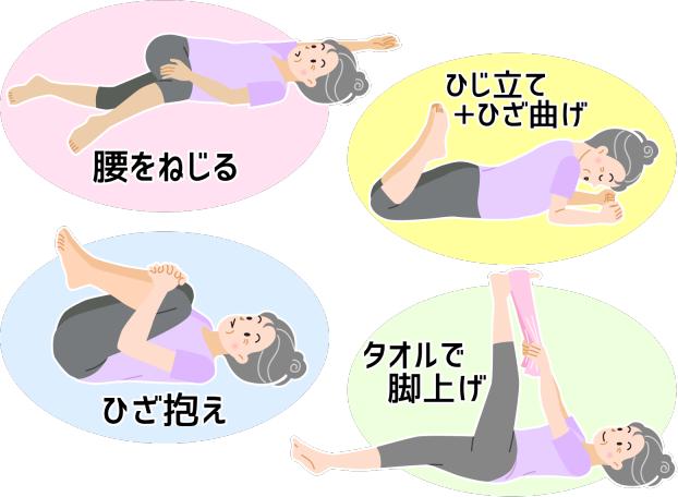 慢性腰痛 治し方 4つのストレッチ